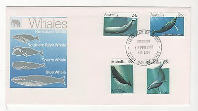 1982 Australia WHALES First Day Cover FDC 17/2/1982