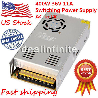 400W 36V 11A Single Output Switching Power Supply AC to DC SMPS S-400-36 for LED