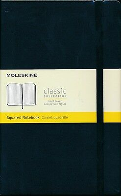 Moleskine Classic Collection Squared Notebook NEW Hard cover