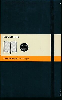 Moleskine Ruled Notebook soft cover NEW Orchid or Black colour