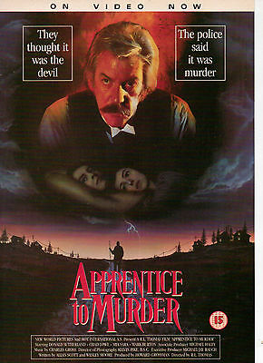 A4 Advert for the Video Release of Apprentice To Murder Donald Sutherland