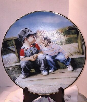 Hamilton Collectors Plate The First Kiss By Zolan 1992