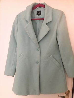 NEW LOOK 915 Mint Green Coat 14-15 yrs or Ladies 10 12 Blazer