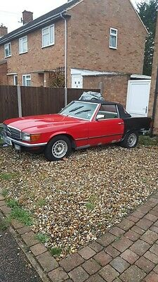 1983 mercedes 500sl r107 convertible 3 owners 83miles