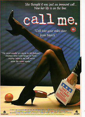 A4 Advert for the Video Release of Call Me Patti D'Arbanville