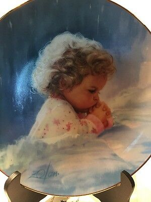 Hamilton Collection Plate Twilight Prayer By Zolan 1993 571A With COA(5)
