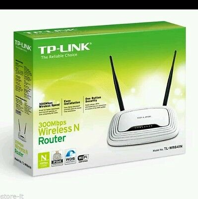 TP-LINK Router Wireless N WiFi 300Mbps Access Point Lan Switch 4 TL-WR841N