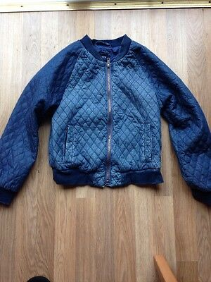 Gap Kids Girls Denim Bomber Jacket. Large - Age 10-11