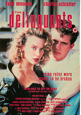 A4 Advert for the Video Release of Delinquents Kylie Minogue Charlie Schlatter