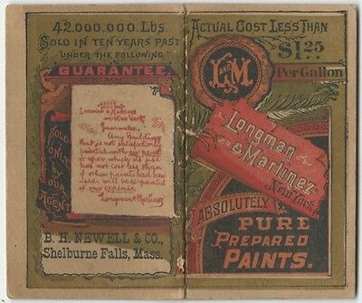 1890s Longman & Martinez Paint Pocket Notebook