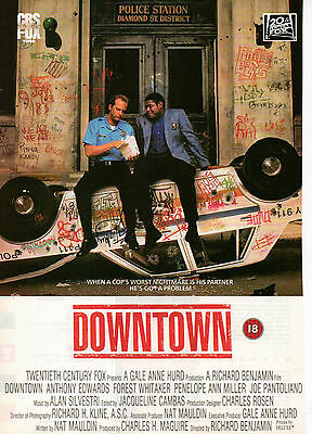 A4 Advert for the Video Release of Downtown Anthony Edwards Forest Whitaker