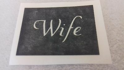 Wife word stencils for etching on glass   present gift hobby craft glassware