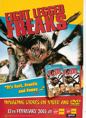 A4 Advert for the Video Release of Eight Legged Freaks