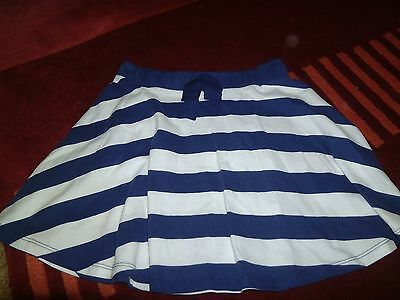 Girls blue and white striped skirt age 10 years from Next