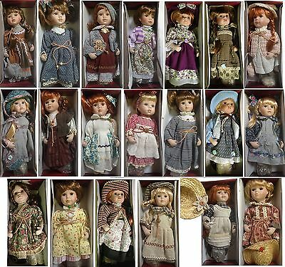 "Porcelain Doll 12"" Mint Condition Collection In Box"