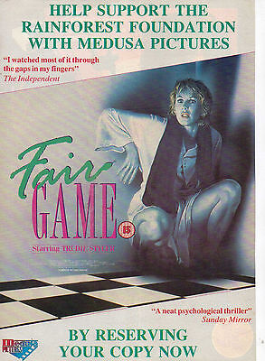 A4 Advert for the Video Release of Fair Game Trudie Styler