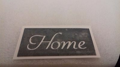 Home word stencils for etching on glass   present gift hobby craft glassware