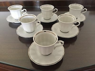 Set of 6 Vintage Walbrzych Demitasse/expresso Cups and Saucers made in Poland