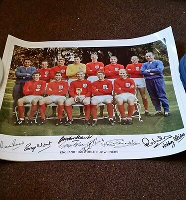 8 signed england world cup winners 1966 print