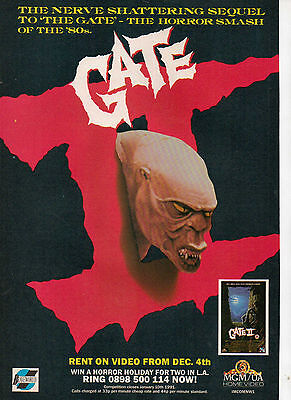 A4 Advert for the Video Release of Gate 2 Trespassers