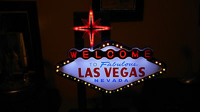 "WELCOME ""LAS VEGAS"" LED COLORFUL FLASHING original Welcome Sign!!!!!!!!!!!!"