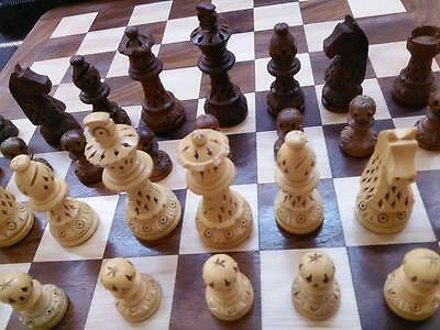 Exclusive Wooden Chess Set with Wooden Pieces and Wooden Board  (Foldable)