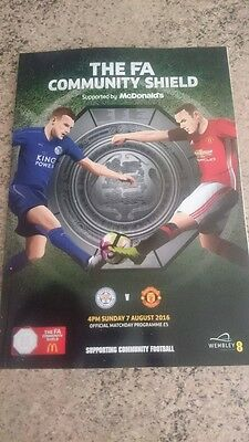 FA COMMUNITY SHIELD 2016 Leicester v Manchester United