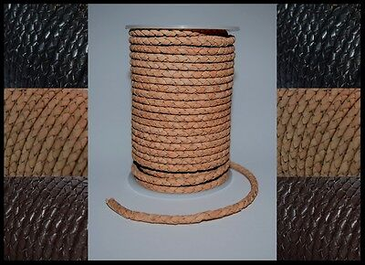 3mm 4mm 5mm BRAIDED BOLO 100% REAL LEATHER CORD HIGH QUALITY ANTIQUE LACE STRING