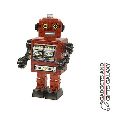 3D JIGSAW ROBOT CRYSTAL PUZZLE RED Family toys and games