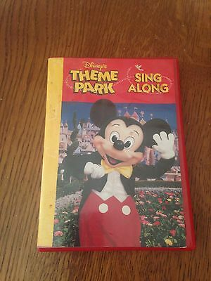 Disney's Theme Park Sing Along Cd Cassette And Booklet Complete In Case