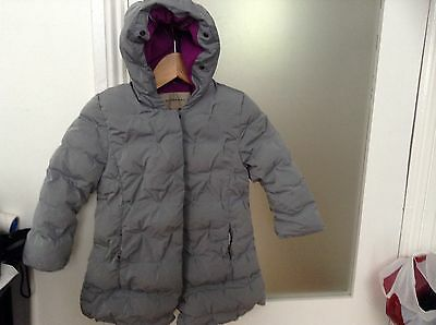 Burberry Girls Hooded Coat Used  Age 4