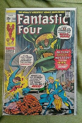 Fantastic Four Vol1 #108  VF+ Jack kirby Art (1971)