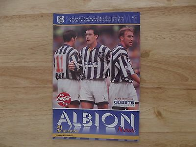 West Brom v Reading Coca-Cola Cup 2 2nd leg