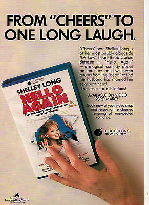 A4 Advert for the Video Release of Hello Again Shelley Long