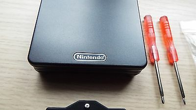 Nintendo Gameboy Advance SP BLACK New Shell Case/Housing (and tools) Free Post