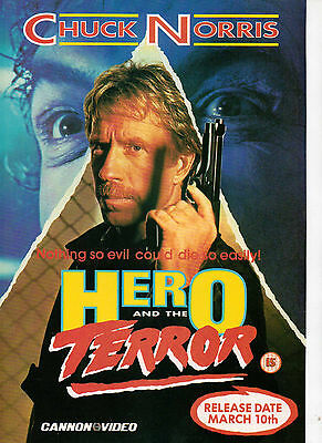 A4 Advert for the Video Release of Hero and the Terror Chuck Norris