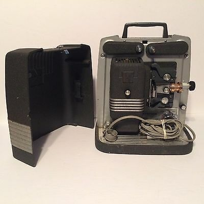 Vintage Keystone K-101Z Automatic 8mm Film Projector w/ Case & Power Cable