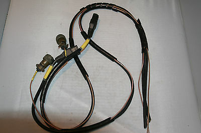 Vtg AMPHENOL POWER CABLE ASSEMBLY WITH 3 PINS CONNECTORS LARKPUR ? CLANSMAN?