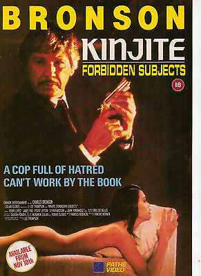 A4 Advert for the Video Release of Kinjite Forbidden Subjects Charles Bronson
