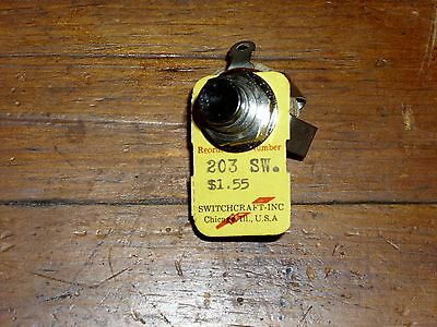 Vintage Switchcraft Momentary Push Button Switch 203 SW  ***SALE***