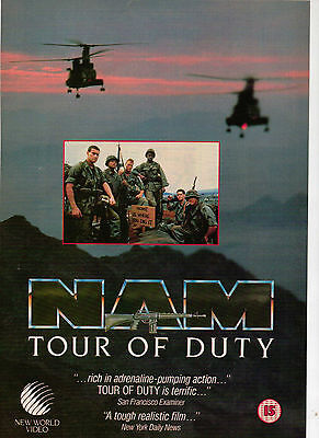 A4 Advert for the Video Release of Nam Tour Of Duty