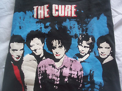 THE CURE Not Concert/Tour VINTAGE T-SHIRT Baseball Jersey TOP Small EPIC Small