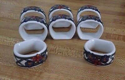DANSK NORDIC GARDEN Napkin Rings **SET OF 8**
