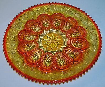 Beautiful Amberinia Egg Plate -Duncan Miller- Indiana For Montgomery Ward