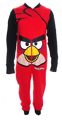 Angry Birds Rot Jungen Overall Pyjama 3-8 Jahre