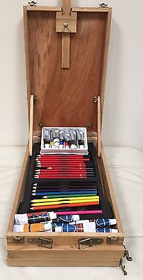 Wooden Artist Easel Set Portable Painting Drawing Art Travel Kid Adults Children