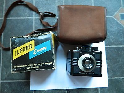 Ilford Envoy Bakelite Box Camera with part of box in case
