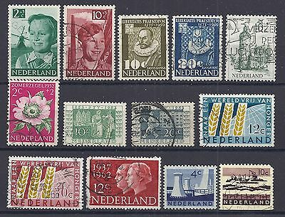 NETHERLANDS x 13 assorted stamps