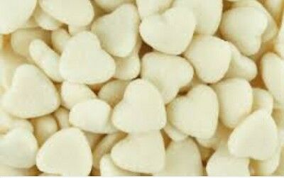 White Sour Hearts 1Kg Wedding Candy Party Bar Buffet Lollies