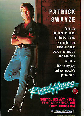 A4 Advert for the Video Release of Road House Patrick Swayze
